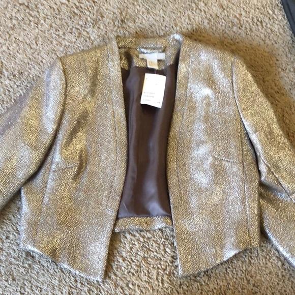 Shiny silver H&M blazer